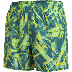 "speedo Printed Leisure 16"" Watershorts Men, swell green/jupiter green/empire yellow"